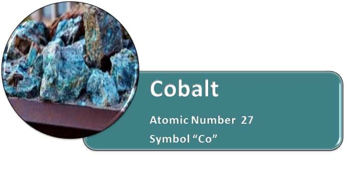Cobalt Chemical Symbol Co Atomic Number 27
